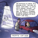 Traffic Cop Noir